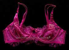 BNWT Victoria's Secret 34B/75B Very Sexy unlined demi bra pink lace sheer new