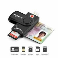 Rocketek USB 2.0 Smart Card Reader SD/TF MMC Micro SD Memory ,ID,Bank Sim Card