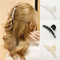 Claw Hair Clip Pearls Women Girls Big Rhinestone Hair Clips Crab Hair Claws UK