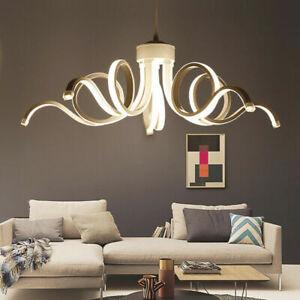 Lampadario da soffitto led 50w moderno lampada curva luce fredda o naturale