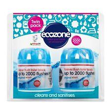 Écozone Forever chasse 2000 toilette Bloc Twin Pack, Bleu (Vegan)