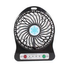 Mini Desk Fans Summer Fan Air Cooler Table USB Rechargeable LED Light Portable