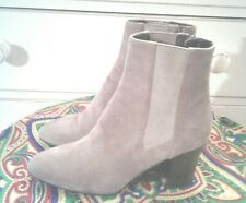 Aquatalia Beige Suede Ankle BOOTS WOMENS 9.5