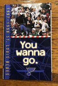 1997-98 ST. LOUIS BLUES HOCKEY POCKET SCHEDULE NHL
