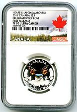 2017 CANADA $3 SILVER NGC PF70 CELEBRATION OF LOVE CRYSTAL FIRST RELEASES RARE