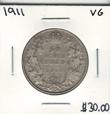 Canada 1911 50 Cents VG