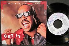 "Stevie Wonder & Michael Jackson ""Get It"" Motown Promo 45rpm w/ Picture Sleeve EX"