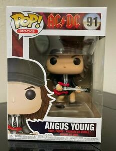 FUNKO POP! ANGUS YOUNG AC/DC ROCKS #91 NON CHASE IN HAND MINT FAST SHIPPING