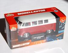 VW Bus Bulli T1 rot 1:37, WELLY 11,5 cm Modellauto mit Rückzugmotor Neuware OVP