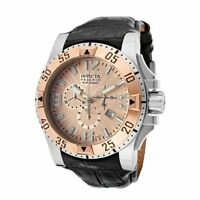 New Mens Invicta 10901 Excursion Reserve Swiss Made Chrono Rose Tone Dial Watch