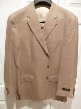 NEW $600 JOSEPH ABBOUD Jacket 43 R Regular wool silk Made in USA light