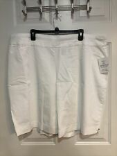 Croft & Barrow Women's 24W Shorts Bermuda White Retail $40 (a-blk-2-171)