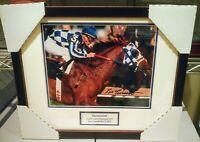 Secretariat signed photo Triple Crown Champion Preakness TURCOTTE AUTOGRAPH
