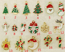 17pcs Small Hanging Christmas Tree Ornaments Xmas DIY Gift For Bracelet Decor