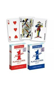 Waddingtons No.1 Playing Cards Decks Of Red and Blue New Poker Game Brand New