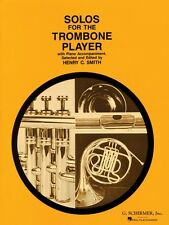Solos for the Trombone Player Trombone and Piano Book Only Brass Solo  050330090