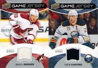 Upper Deck 2012/13 Series 1: Lot of 2 UD Game Jersey Cards: Boedker / Stafford