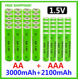 1.5V AA + AAA NI MH Rechargeable Battery AAA Alkaline 2100-3000mah Replace Lot