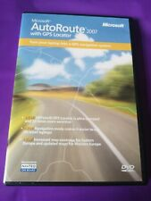 MICROSOFT AUTOROUTE 2007 WITH GPS LOCATOR GENUINE RETAIL BOXED COMPLETE
