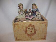 "Boyd's Yesterdays Child Dollstone Figurine ""Sarah & Heather"" Tea Party 1E In Box"