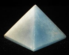 PYRAMID - ANGELITE Crystal with Description Card & Pouch - Healing Stone Reiki