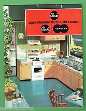 #T64.  1960s CLARK / HOADLEY KITCHEN & LAUNDRY CABINETS ETC