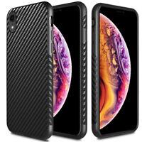For Apple iPhone XR Slim Carbon Fiber TPU Shockproof Cover Phone Case