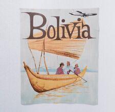 Vintage Bolivia Travel Poster Original Braniff Airways