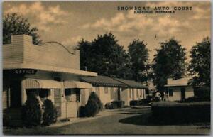 Hastings, Nebraska Postcard SHOWBOAT AUTO COURT Roadside Curteich c1950s Unused