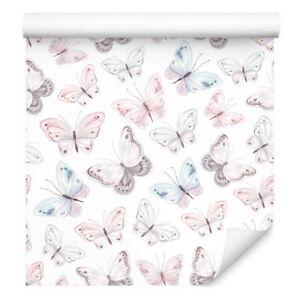 10m VLIES TAPETE Kinderzimmer Schmetterlinge Himmel Aquarell XXL 3232