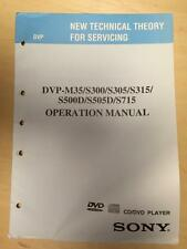 Sony Operation Manual ~ DVP S300 S500D S505D S715 M35 ~ Technical Theory/Service