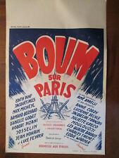 BOUM SUR PARIS AFFICHE DE CINEMA ANNEES 1960 BILINGUE