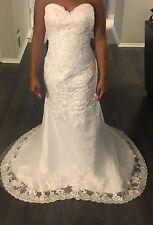 Custom Mermaid Wedding Dress Bridal Gown Strapless Lace Sweetheart Formal Ball