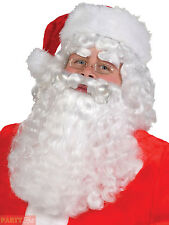 Adult Santa Claus Wig + Beard Mens Father Christmas Fancy Dress Accessory Outfit