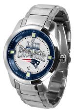 New England Patriots Super Bowl 53 LIII Watch Mens Game Time Titan SS Wristwatch
