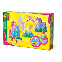 SES CREATIVE Children's Horses Casting and Painting Set, Girl, 5 to 12 Years