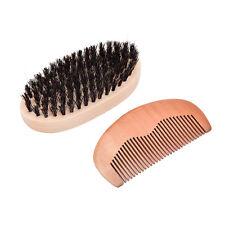 Men's boar bristle beard brush and comb beard comb grooming kit brush+comb FOUK