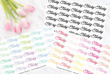 Study Time Script Functional Planner Stickers in Cool, Warm or Black Colours UK