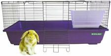 Purple 100 CM Rabbit Cage Indoor Large Bunny Hutch Guinea Pig Cages Rodent Rats