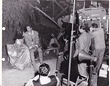 ERROL FLYNN Director VINCENT SHERMAN Original CANDID Set Vintage DON JUAN Photo