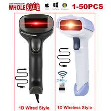 Automatic Laser Handheld Barcode Scanner Gun Bar Code Reader Wireless/Wired Lot