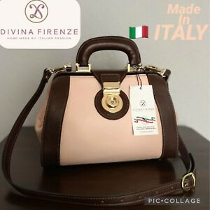 NWT DIVINA FIRENZE DOCTOR BAG GENUINE LEATHER SATCHEL  MADE IN ITALY🇮🇹$399