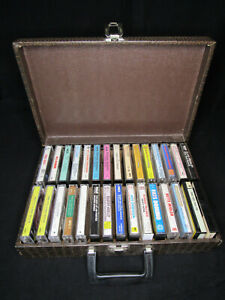 Lot of 30 Hits from the 60s, 70s, Music Cassette Tapes w/ Sweet Vintage Case