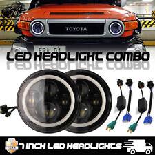 "2PC 7"" Inch LED Hi/Lo Daymaker Headlight For Land Cruiser FJ40 Jeep CJ&Wrangler"
