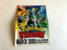 Pokemon Red Blue Yellow Stadium N64 J/GGN-S-UCPS-USA INSERT ONLY Authentic