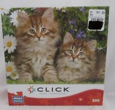 Click Daisy & Lobelia 300 pc piece Cat Kitty Kitten in Garden Jigsaw Puzzle