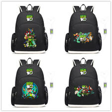 Kid's Ben 10 Reboot canvas Backpack School bag USB Charging Travel laptop bags
