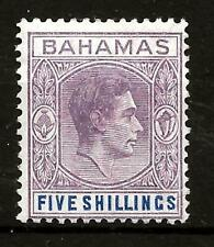 BAHAMAS  (312) 1948-5/- CHALKY SG156d  BRN/PUR-DP-BRG-BLUE  MM /MH SEE 2 SCANS