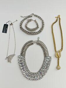 TRACI LYNN 5pc Jewelry Lot Cleopatra Style Rhinestone Bib Lariat Butterfly 1 Set