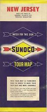 1956 SUNOCO Road Map NEW JERSEY Atlantic City Trenton Newark Paterson Manhattan